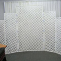 Backdrop – Lattice White Stepped