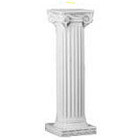 Column – Greek 32″ White