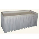 Table, Fill n Chill 30″ x 6′ w/ Skirt