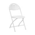 Chair – Folding White Fanback