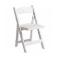 Chair – Folding White Padded