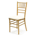 Chiavari Chair (Gold) with Ivory Pad (includes pad)