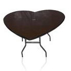 Table, Heart Shaped