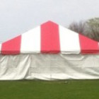 Tent, Frame 30 x 30 Red & White Traditional