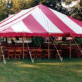 Tent, Pole 30 x 60 Red & White Traditional