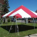 Tent, Pole 20 x 20 Red & White Traditional