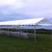 Tent, Frame White 10′ wide extendable up to 250′