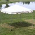 Tent, Frame White 10 x 10 traditional