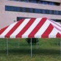 Tent, Frame 20 x 30 Red & White Traditional