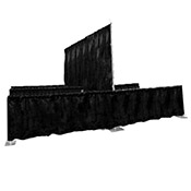 Pipe & Drape, Double Booth (10 x 10 each side) 8' ht.