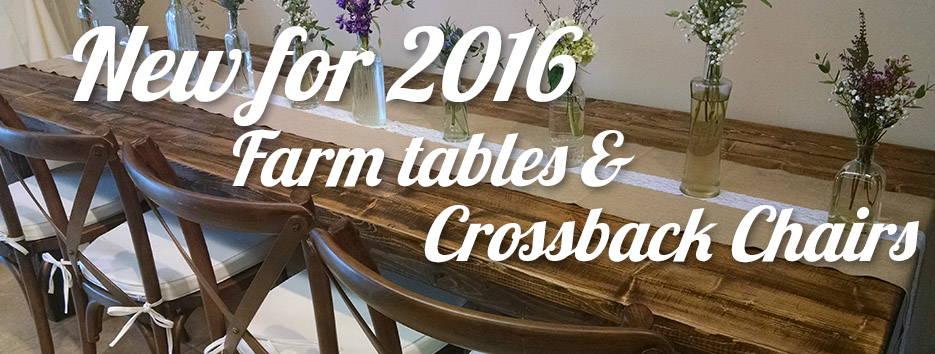 Bloomington Farm Table Rental - Crossback Chair