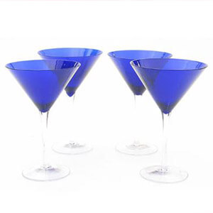 Martini Glass, Blue 12oz
